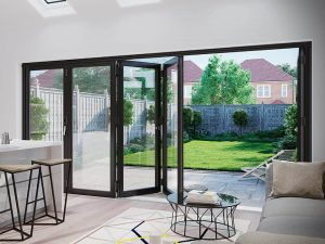 Black Bifold Door Interior
