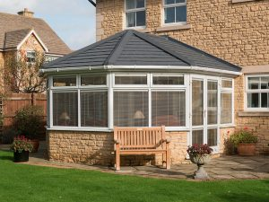 Black Tiled Roof Conservatory