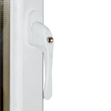 Yale In-line Espag Handle available in white, gold, black or satin chrome