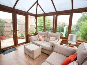 Oak Effect Conservatory Interior