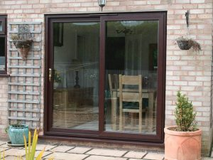 Rosewood Sliding Patio Door