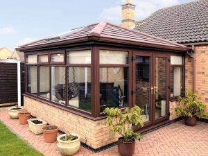 Rosewood Conservatory with Tiled Roof