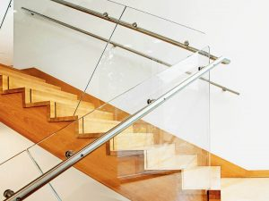Stairway with Glass Railing