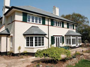 White Aluminium Casement Windows and Bow Windows