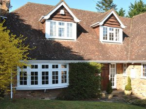 White Casement Windows and Bow Windows