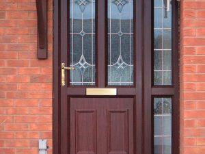 uPVC Rosewood Front Door